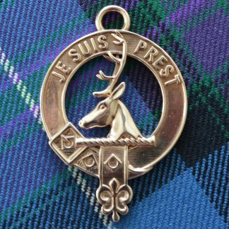 Clan Fraser keyring 3d printed to order ion polished bronze