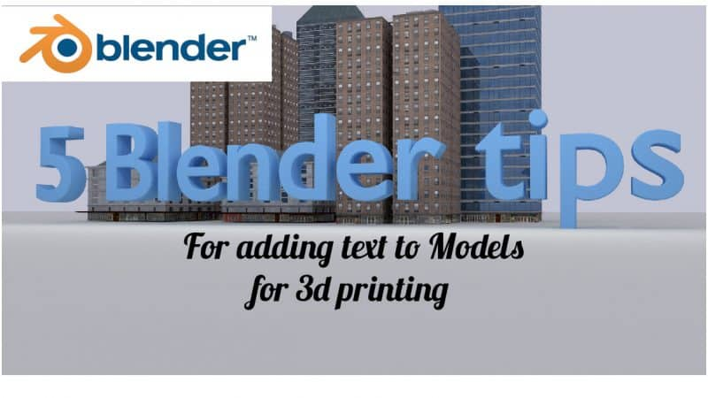 Blender 3d printing text