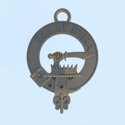 Metal Clan Matheson keyring bearing motto Fac Et Spera