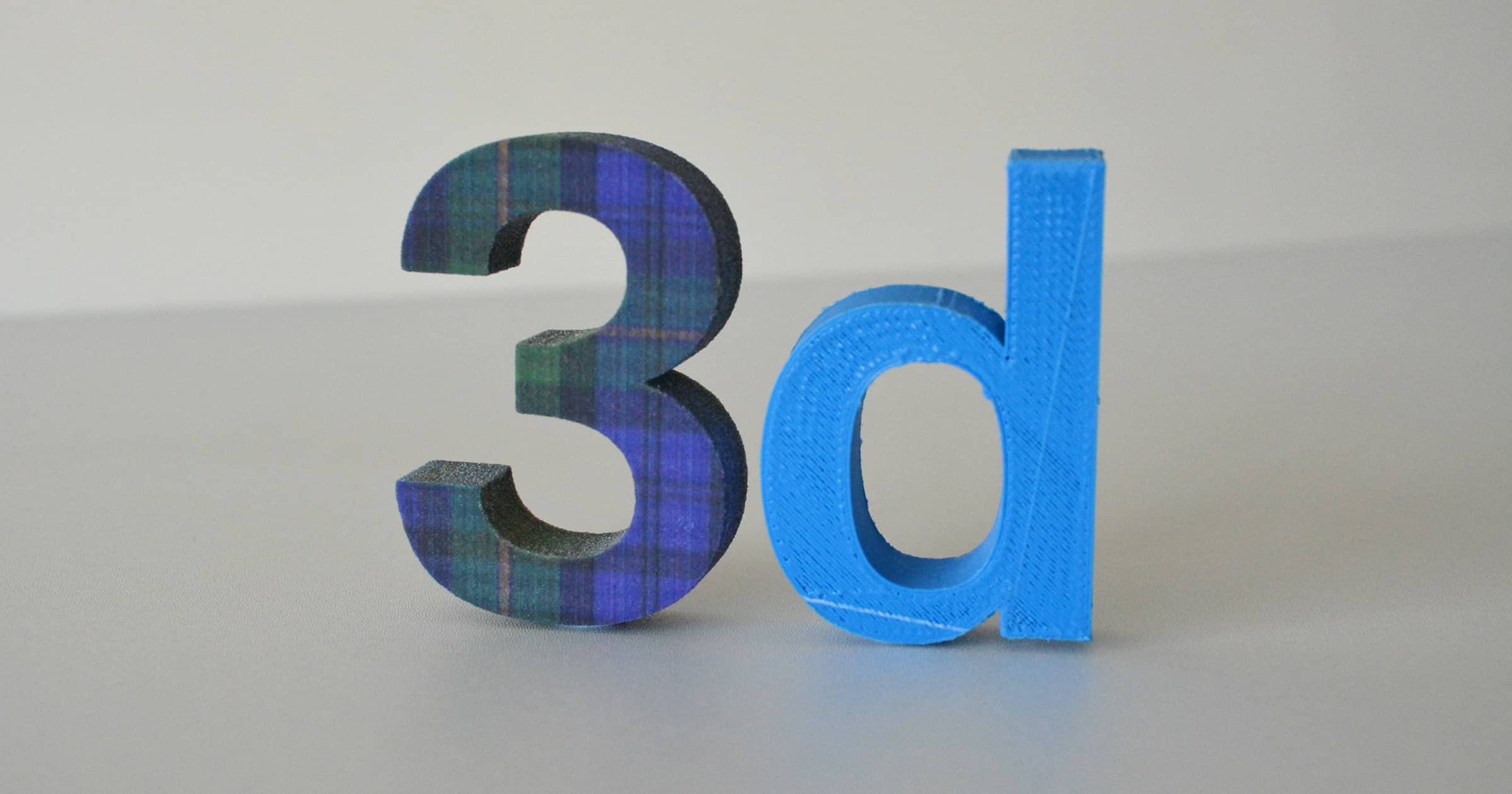 3d printed lettering in full colour