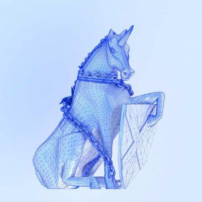 3d printed Unicorn in STL format