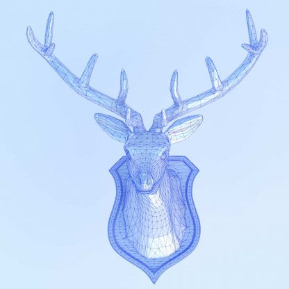 Stag Head in STL format for 3d printing