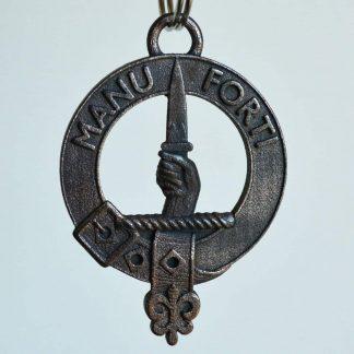 Clan MacKay key ring in steel