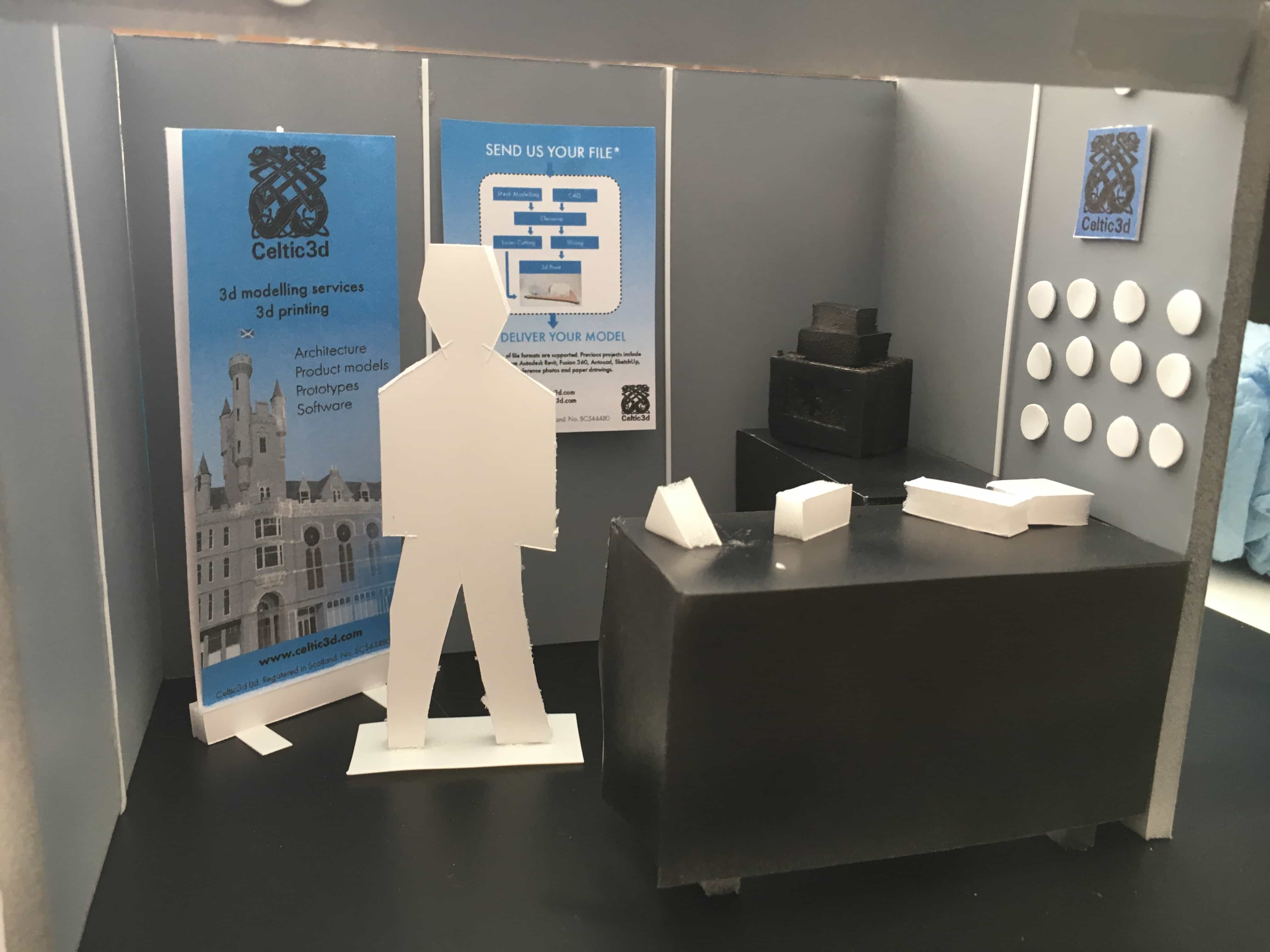 Mock up of the Celtic3d stand at TUBS17