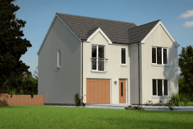 Digital render of a domestic building