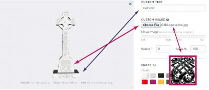 Detail on how to customize the Celtic Cross