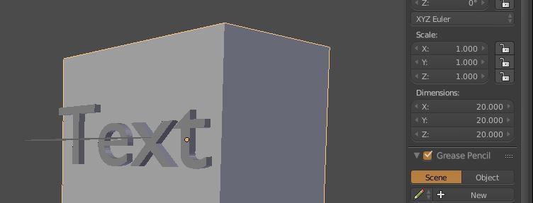 Blender dimensions