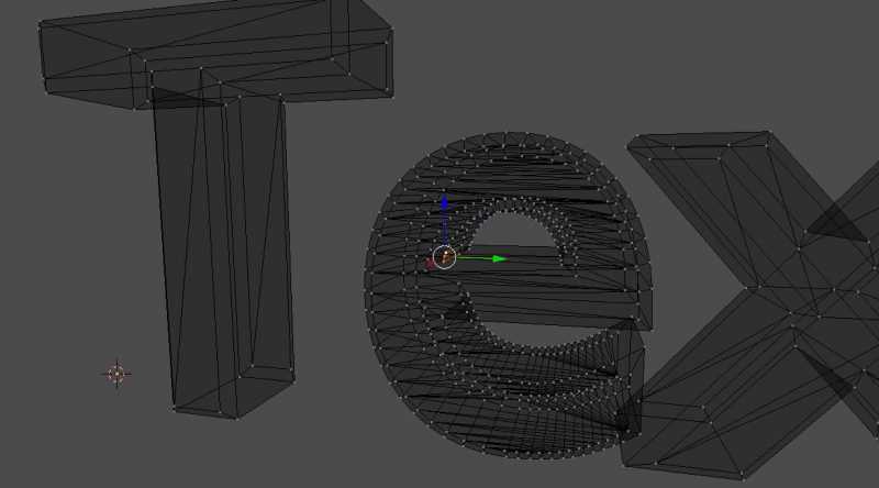 Beveling the text before converting to a mesh will cause overlapping faces