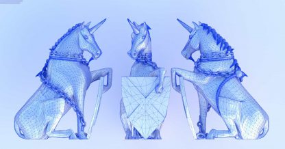 Scottish Unicorn in STL format for 3d print