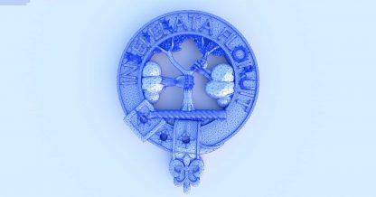 Clan Watson Crest - Inseperata Floruit. STL file for 3d printing