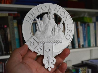 Clan MacKenzie plaque in STL format for 3d printing