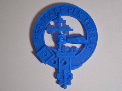 MacDonald crest 3d printed in PLA