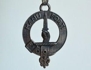 MacKay Clan Crest in Polished Grey Steel