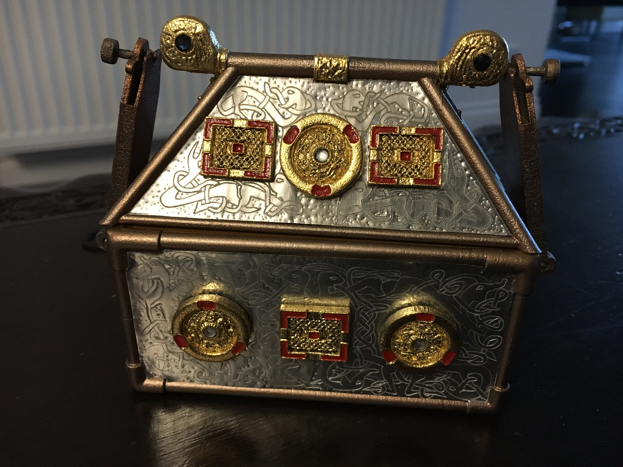 Replica Monymusk Reliquary light reflections