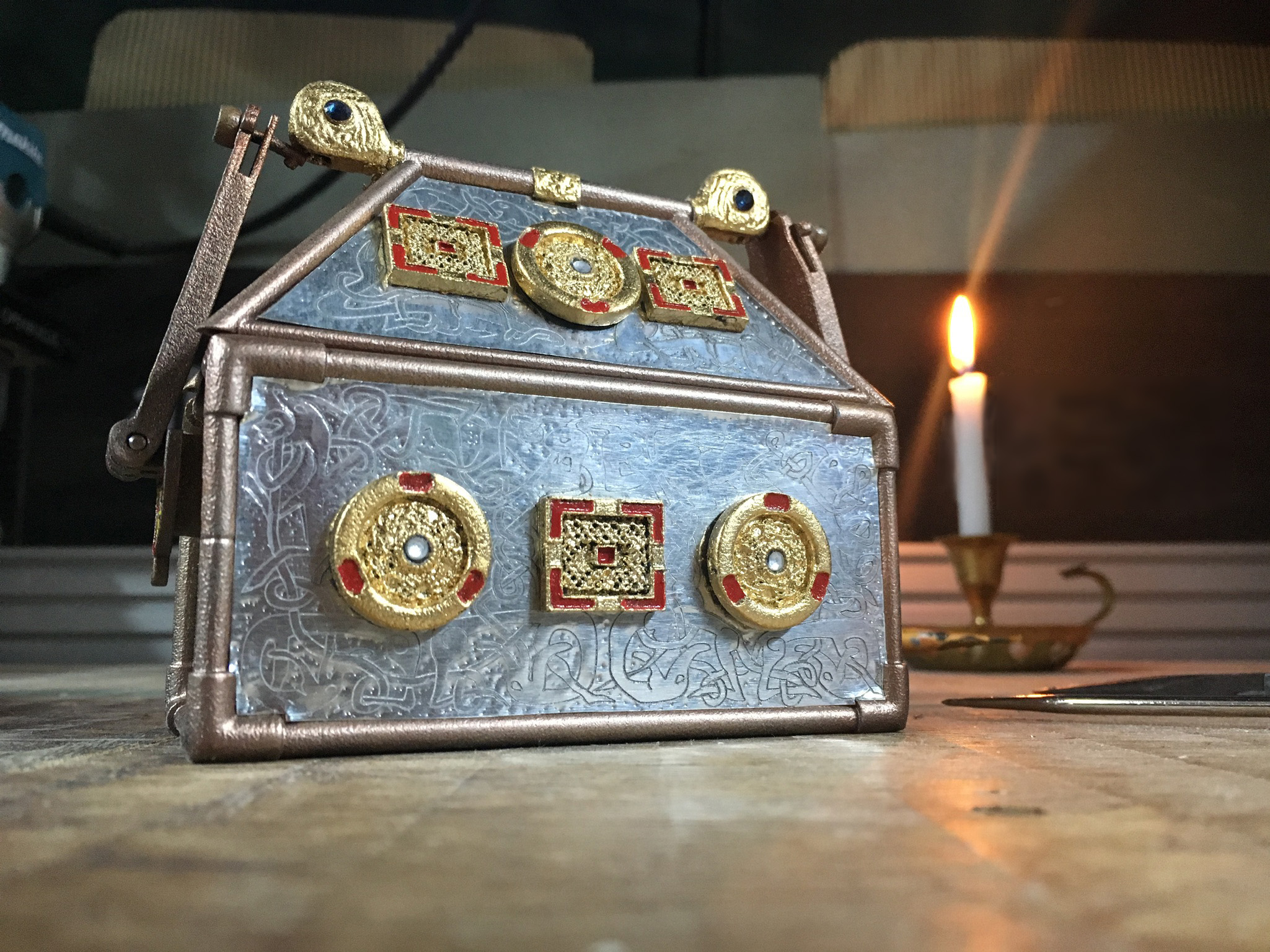 Monymusk Reliquary by candlelight