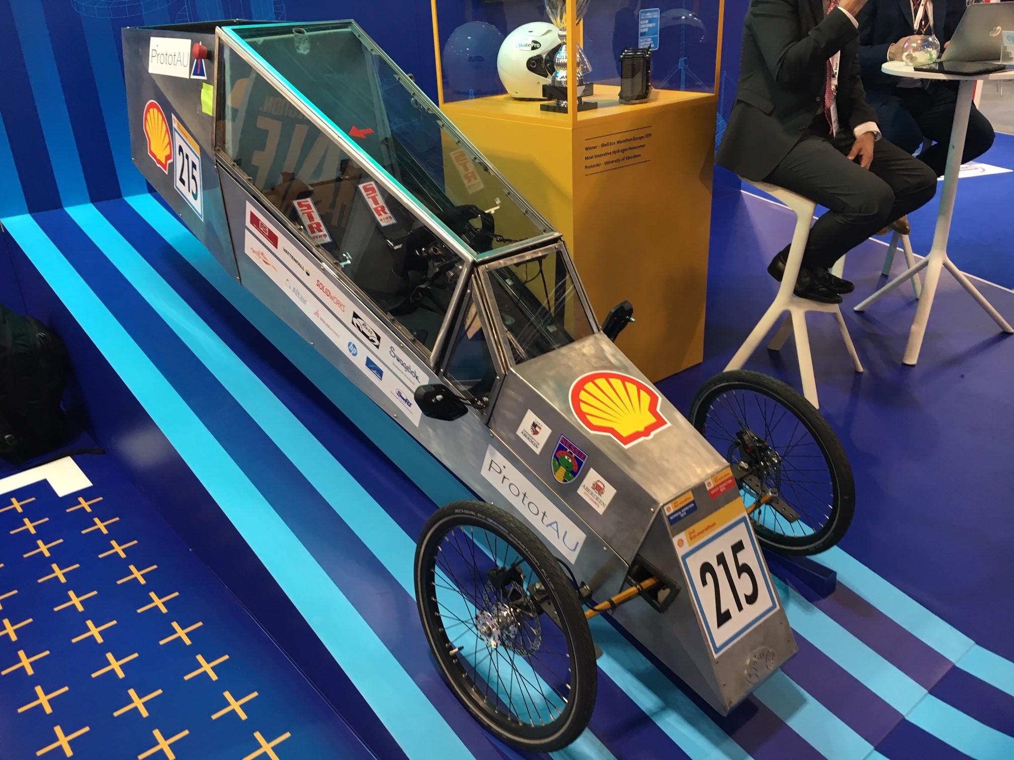 Hydrogen powered prototype car