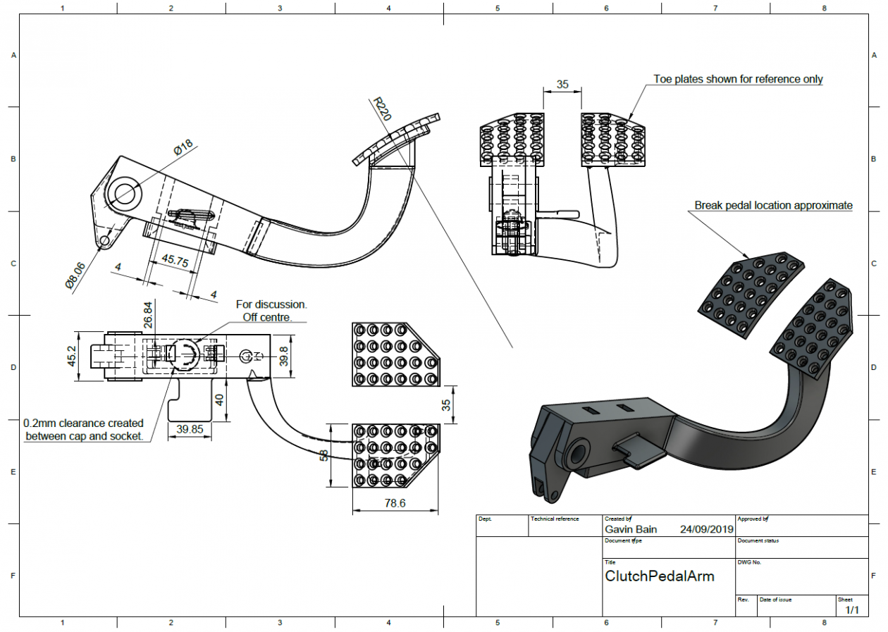 2d drawing from the CAD version