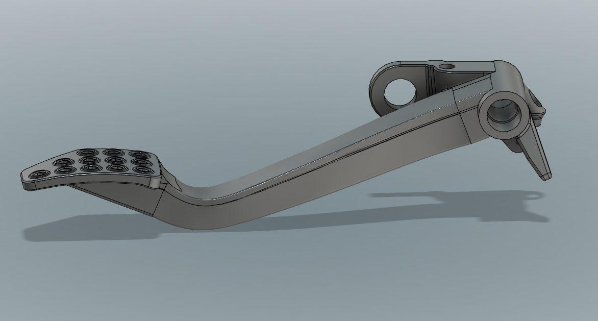 CAD image of a Ferrari Clutch Pedal
